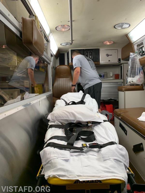 "FF/EMT Nicholas Kaplan participating in the ""Ambulance scavenger hunt"" round"