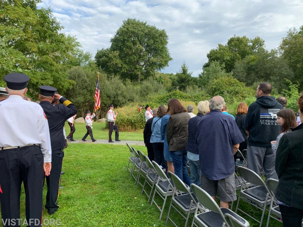 Vista Fire Department Honor Guard during the Town of Lewisboro 9/11 Memorial Service