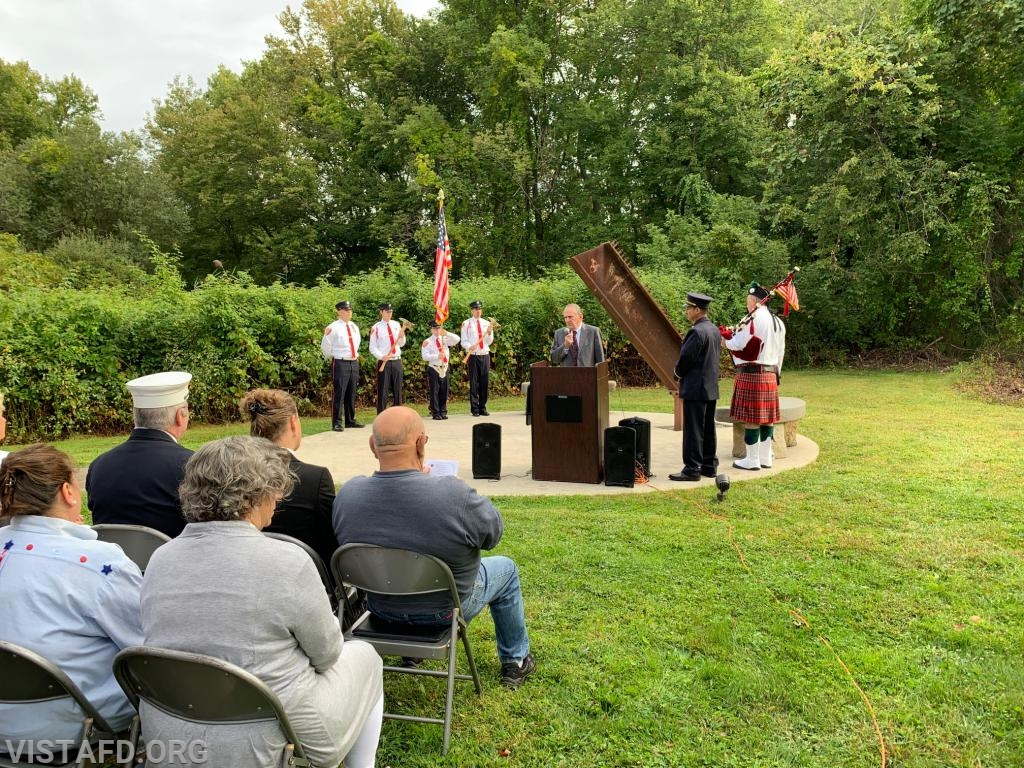 Lewisboro Town Supervisor Peter Parsons speaking at the Town of Lewisboro 9/11 Memorial Service