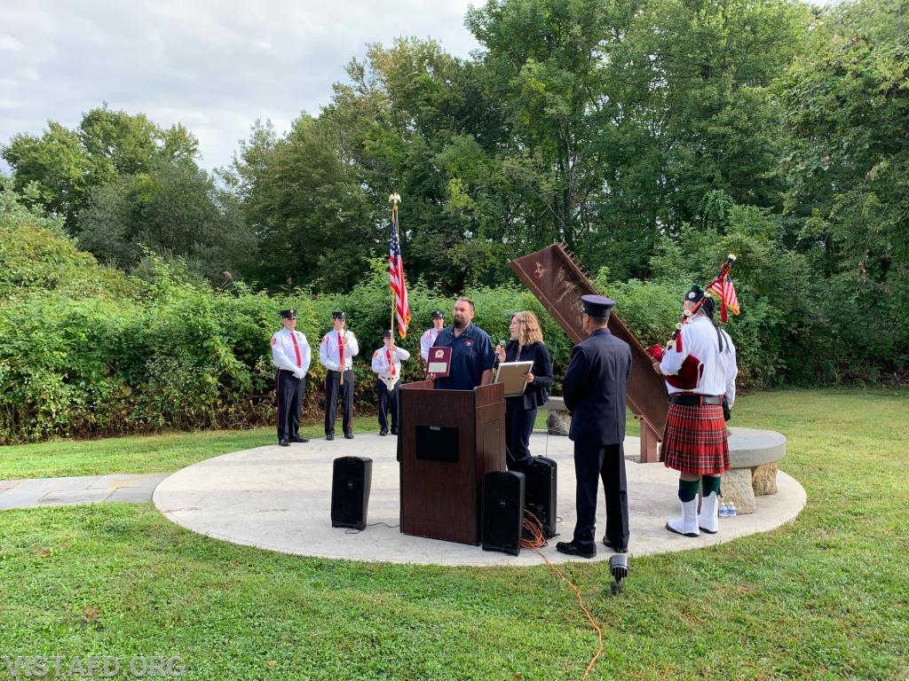 State Senator Peter Harckham's office presenting a proclamation honoring Zachary Jackson