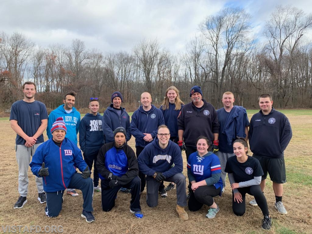 """Team Line Officers"" from the 2019 VFD Turkey Bowl VI"