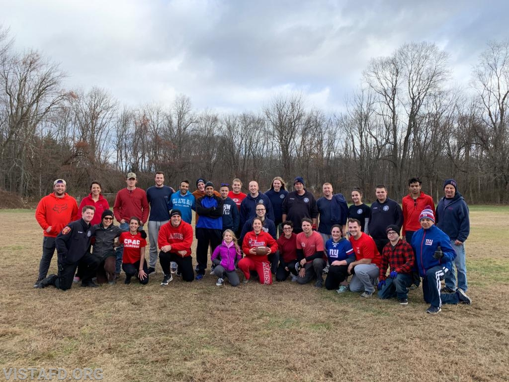 The Vista Fire Department at the 2019 Turkey Bowl VI