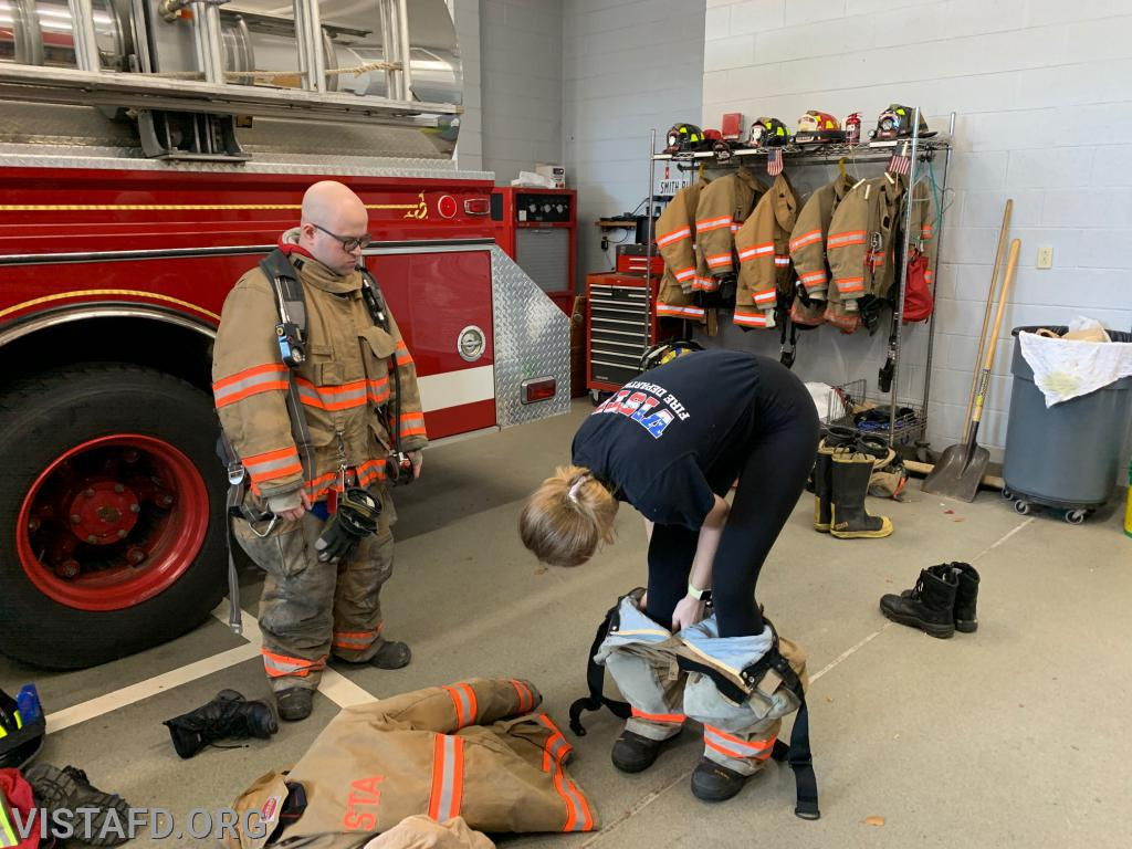 """Vista Firefighters conducting a """"2 minute drill"""""""