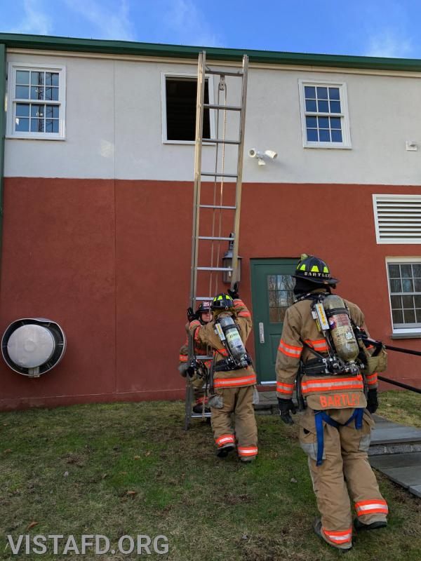 """Vista Firefighters practicing V.E.I.S operations during """"Firefighter Skills Class"""""""