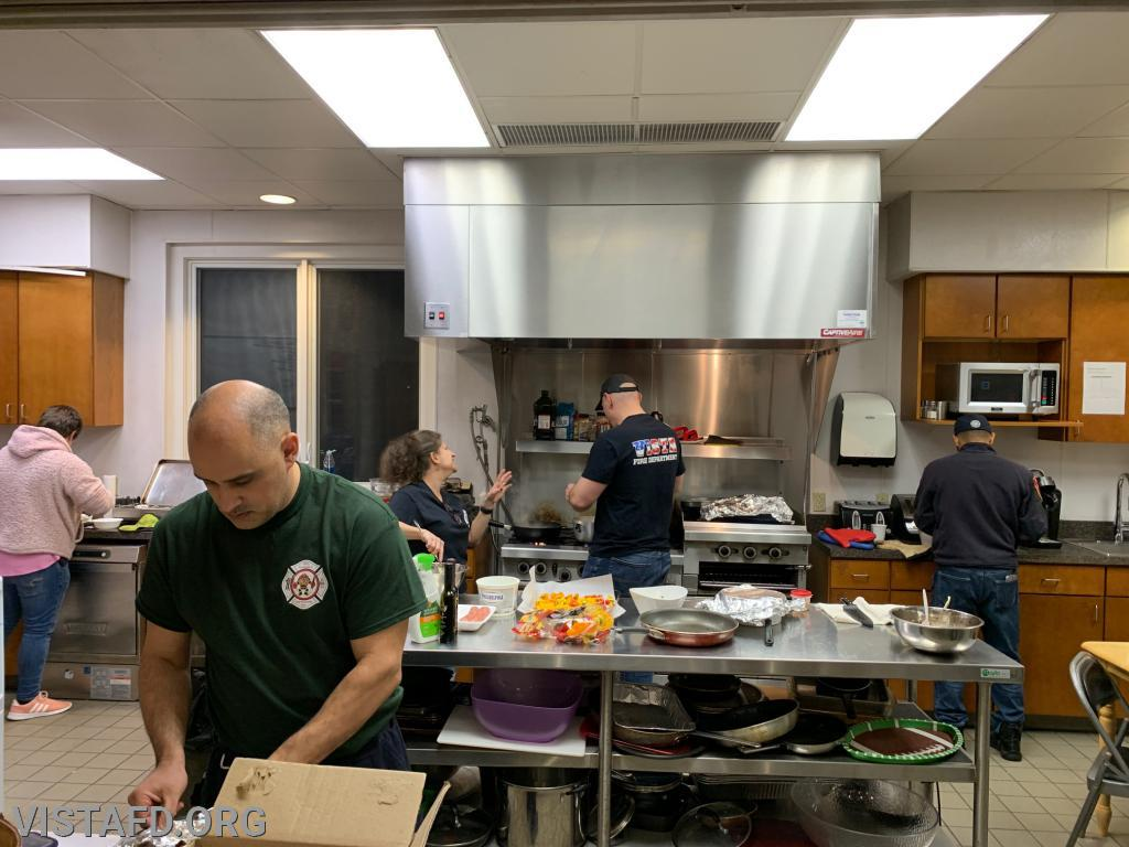 The Saturday Platoons preparing their meals for the 3rd Annual Saturday Platoons cooking competition