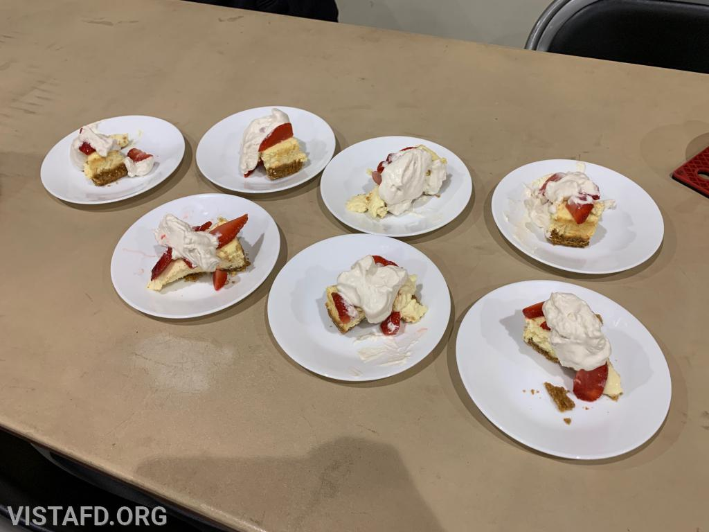 Platoon 3's dessert for the 3rd Annual Saturday Platoons cooking competition