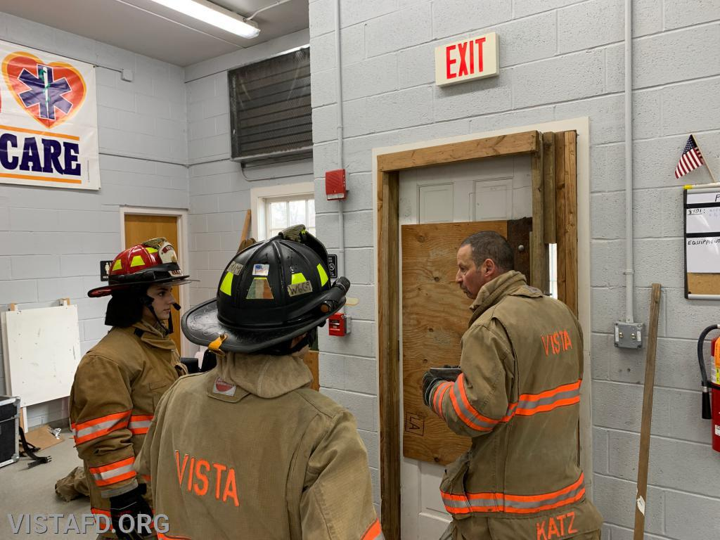 "Lt. Phil Katz going over Forcible Entry during ""Firefighter Skills Class"""