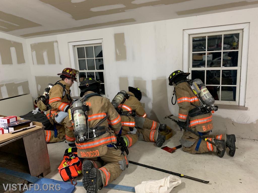 Vista Firefighters performing F.A.S.T. techniques during the drill scenario