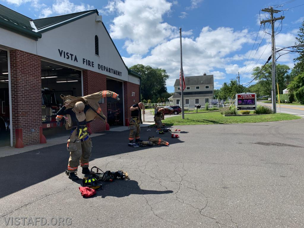 "Vista Firefighters conducting a ""2 minute drill"" during ""Firefighter Skills Class"""