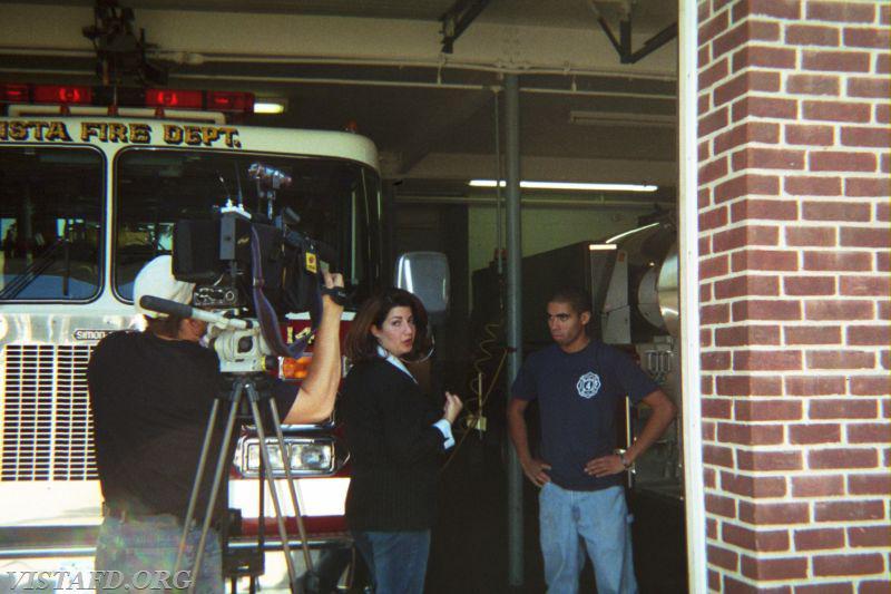 Former Vista Firefighter Dan Cruz gets interviewed by News 12 Westchester about responding to Hurricane Katrina