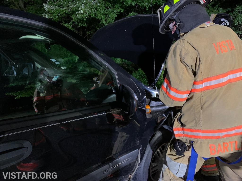 Lead Foreman Adam Bartley practicing how to use the cutters during an extrication