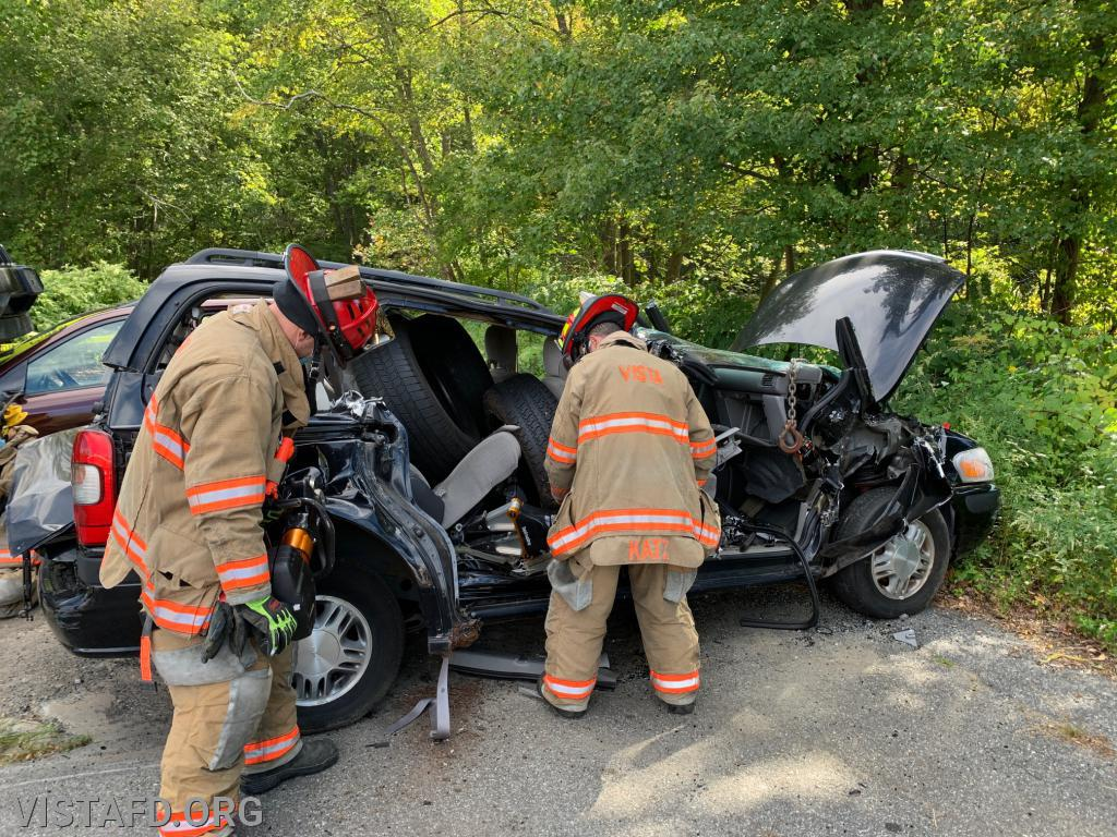 """Vista Firefighters practicing extrication operations during """"Firefighter Skills Class"""""""