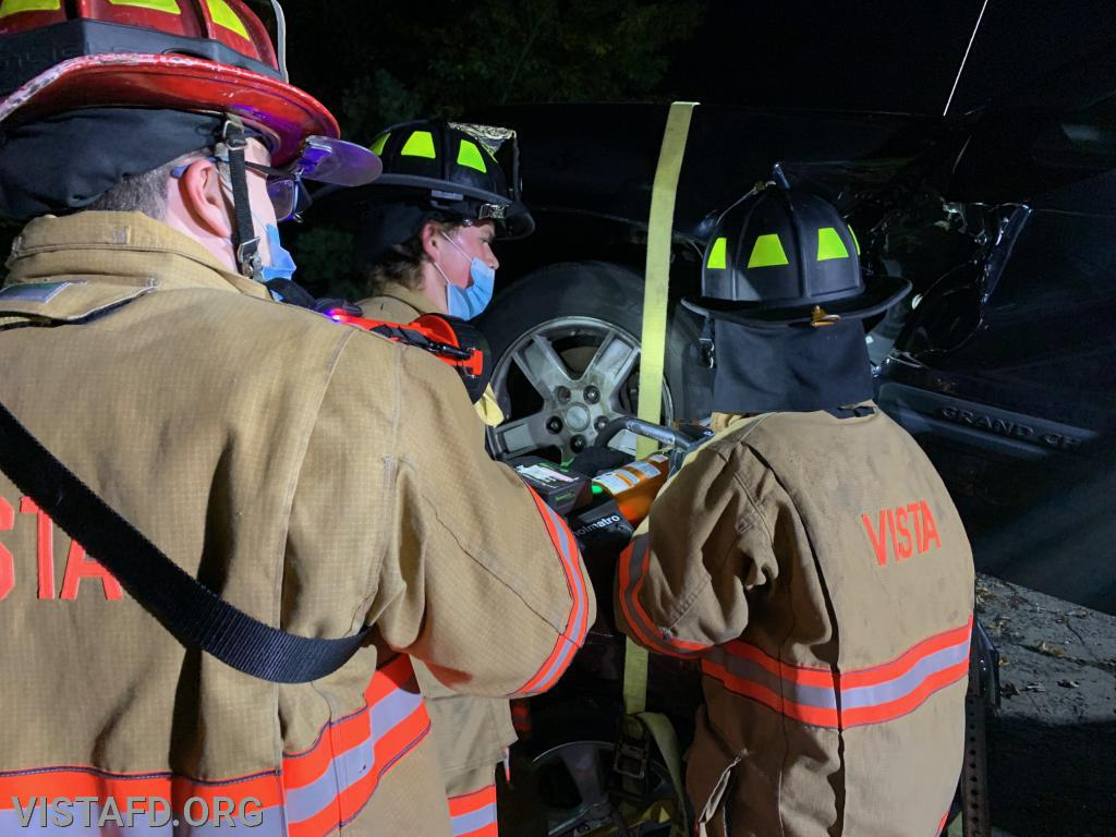 Vista Firefighters conducting extrication operations