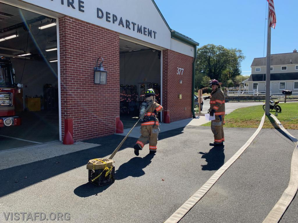 Probationary Firefighter Kyla Whalen going through the TOAC course