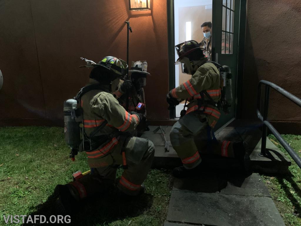 Vista Firefighters preparing to enter the search & rescue scenario