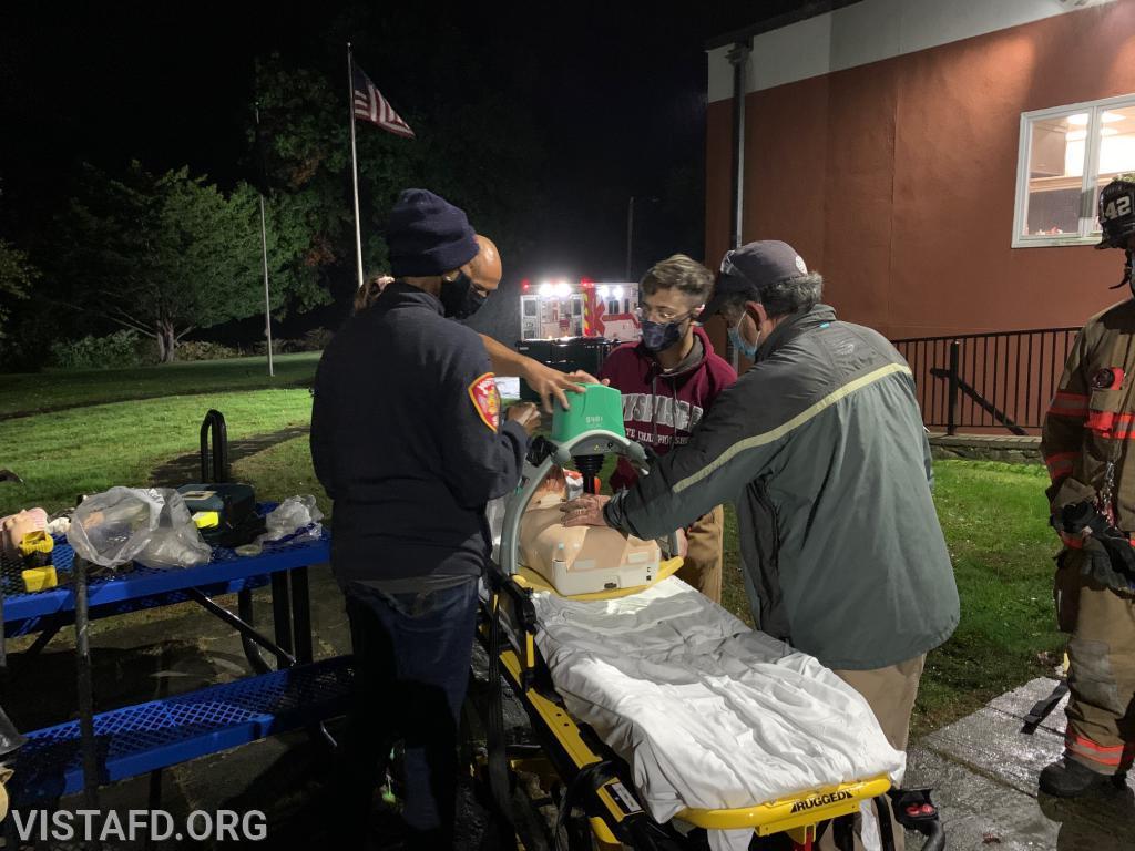 Vista EMS personnel handling patient care