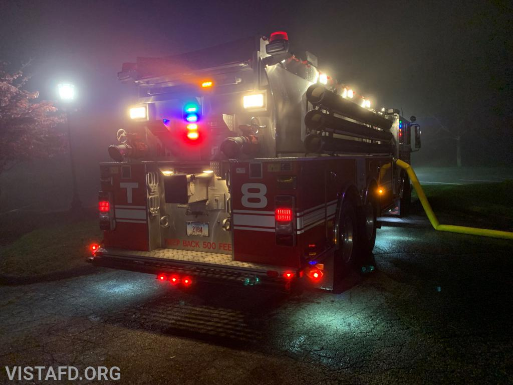 "New Canaan Tanker 8 operating during the ""Tanker Shuttle"" drill"