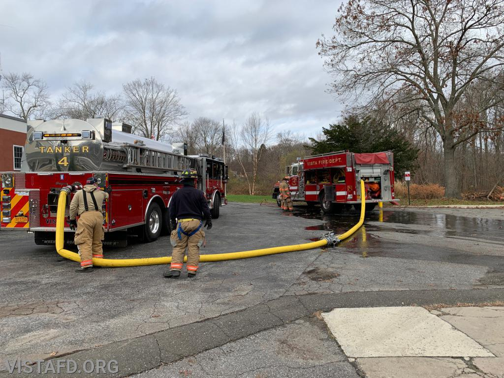 """Engine 142 filling up Tanker 4 during """"Firefighter Skills Class"""""""