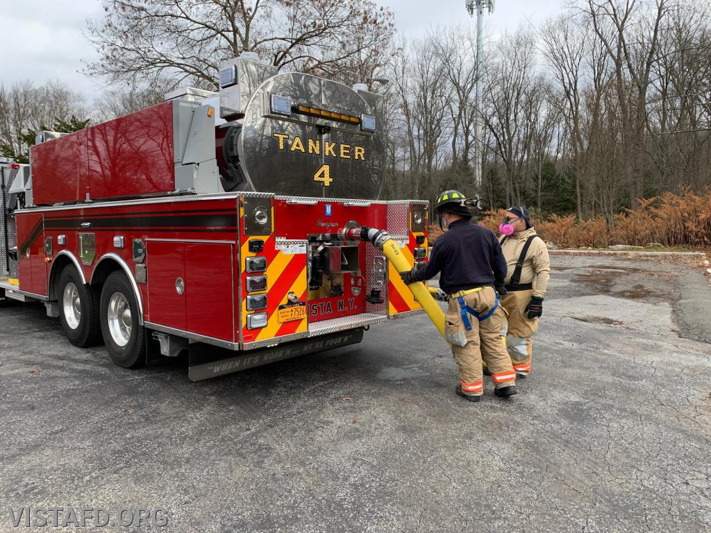 """Tanker 4 filling up with water during """"Firefighter Skills Class"""""""