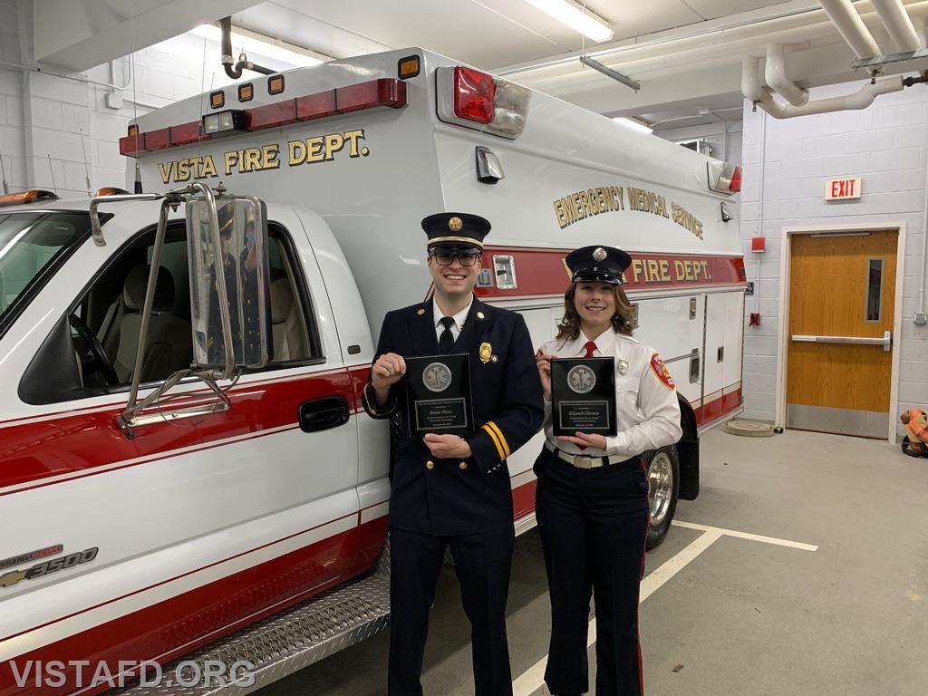 Vista Fire Department President's Award recipients: Captain Brian Porco and Foreman Elly Hersam