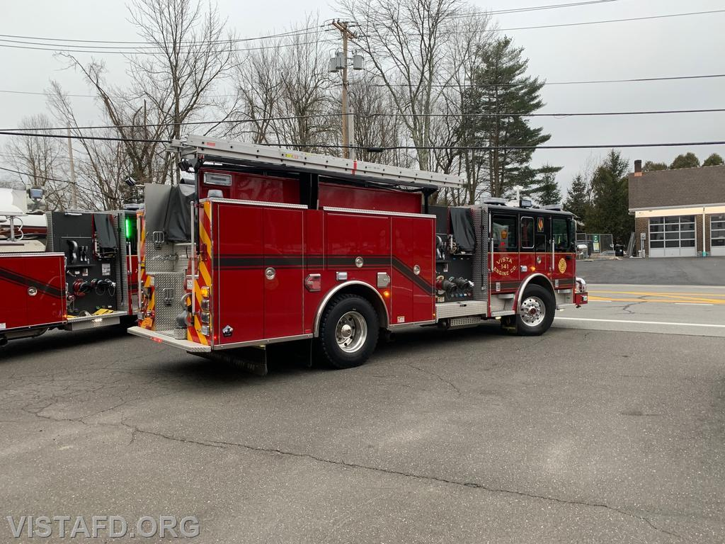 Engine 141 going out for Driver Training