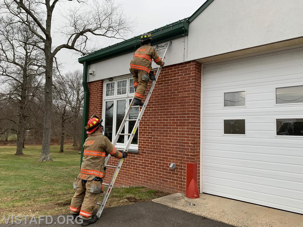 "Vista Firefighters practicing Ladder Operations during ""Firefighter Skills Class"""