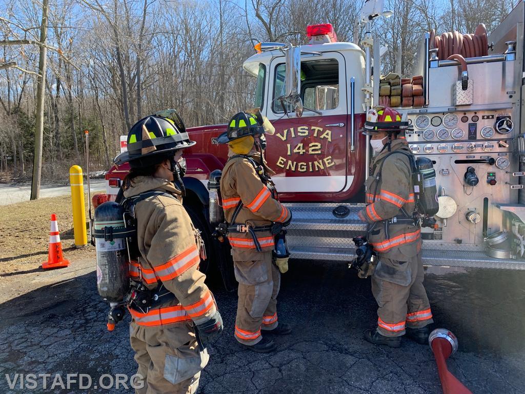 "Capt. Phil Katz going over hoseline operations during ""Firefighter Skills Class"""