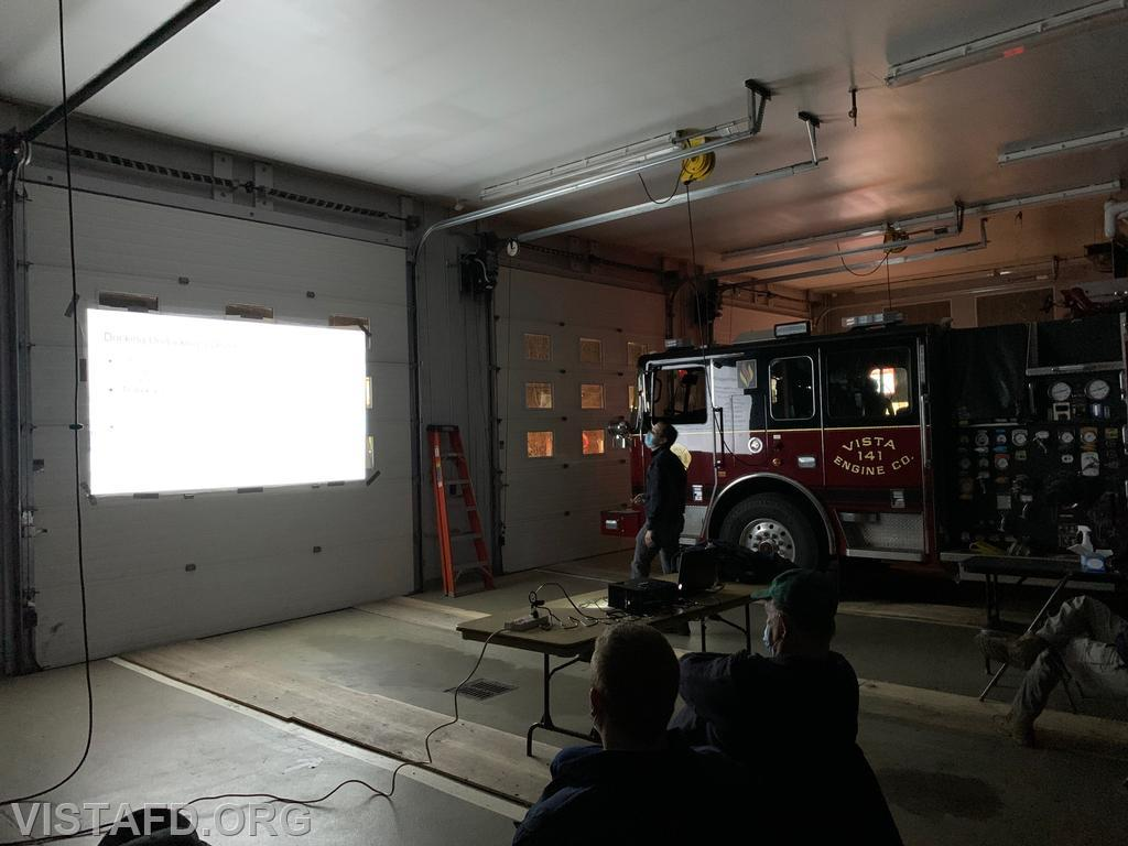 Captain Brian Porco conducting an overview on the new laptops for the apparatus