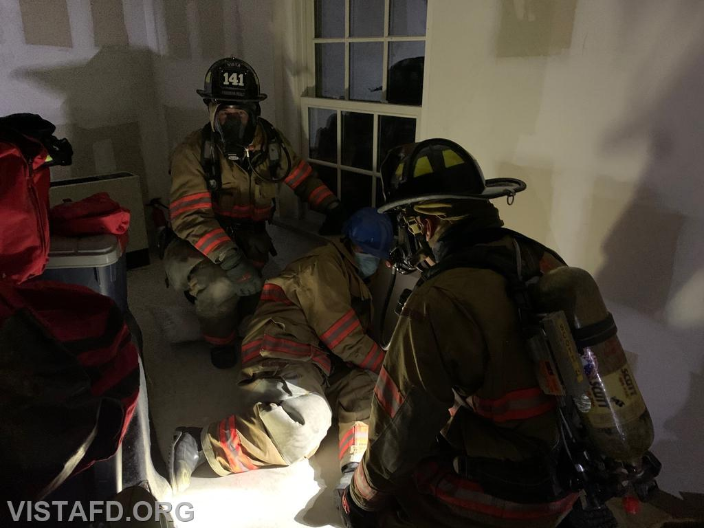 Vista Firefighters conducting search and rescue evolutions