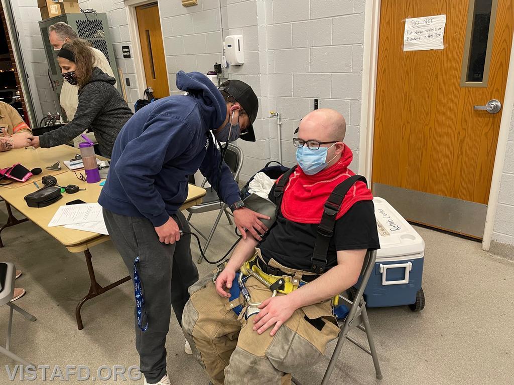 Vista EMS personnel conducting rehab operations
