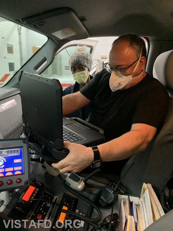 FF/EMT Candidate Mark Albert using the new ePCR system