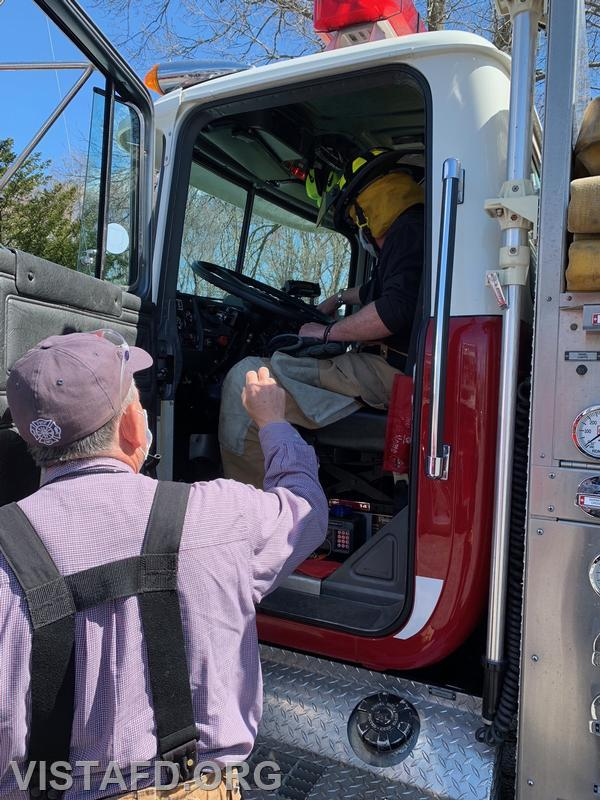 """Vista Firefighters conducting pump operations during """"Driver Training"""""""