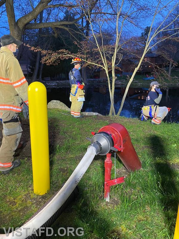 Vista Firefighters conducting a hydrant service
