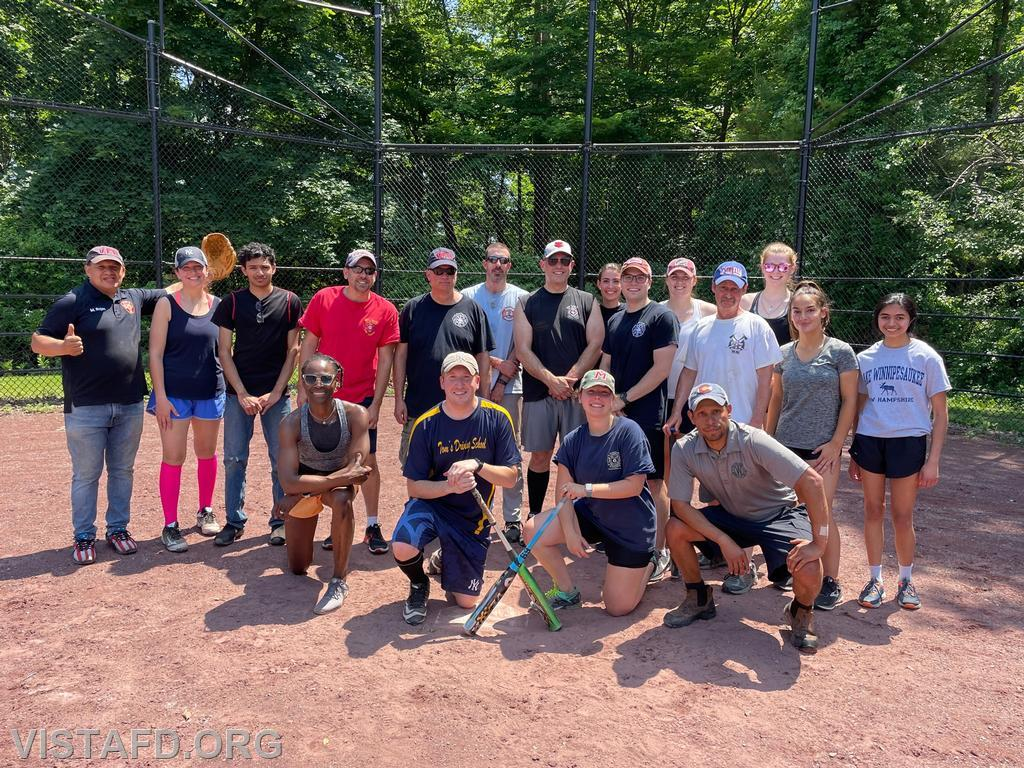 The Vista Fire Department at the 5th Annual Memorial Day Weekend softball game
