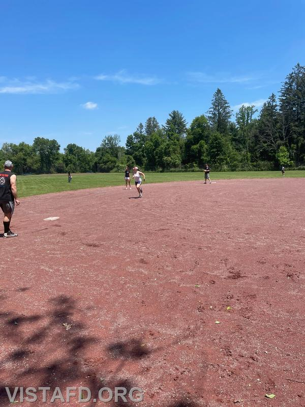 Vista Fire Department members playing in the 5th Annual Memorial Day Weekend softball game