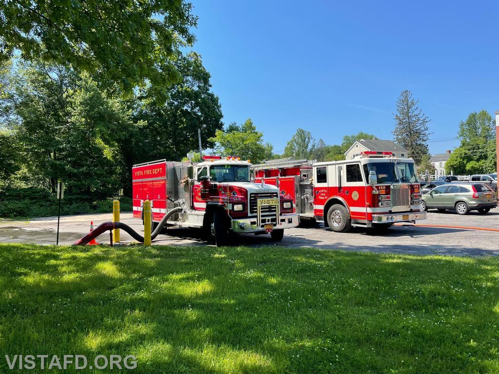 """Engine 142 and Engine 143 operating during """"Driver Training"""""""