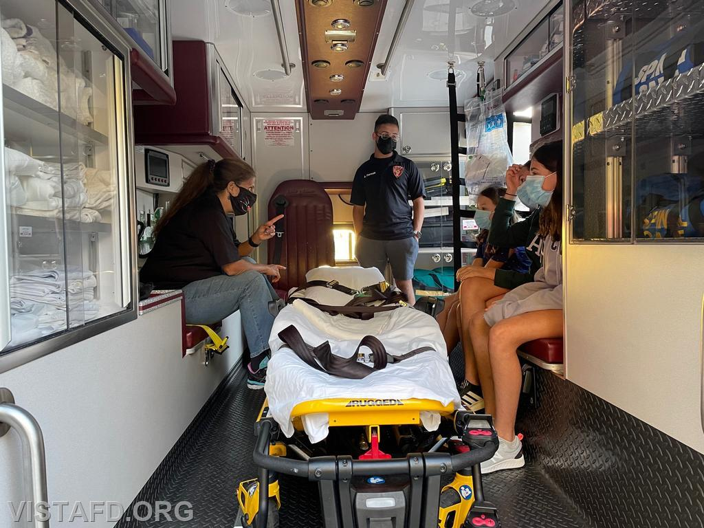 """Members of the community getting tours of the Ambulance at the """"Tunnel to Towers Foundation"""" Fundraiser"""