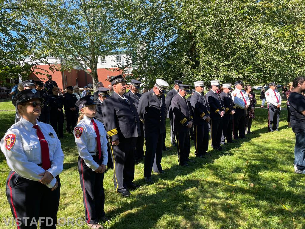 Town of Lewisboro First Responders at the Vista Fire Department's 9/11 Memorial Service
