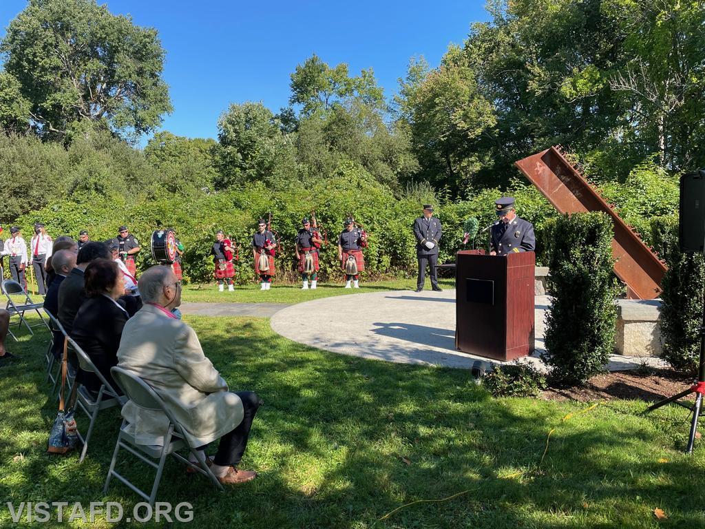 President Phil Katz speaking at the Vista Fire Department's 9/11 Memorial Service