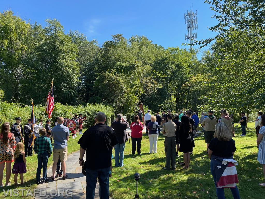 Members of the community at the Vista Fire Department's 9/11 Memorial Service