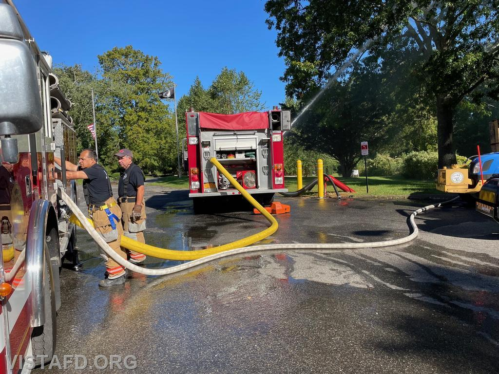 """Engine 143 and Engine 142 operating during """"Driver Training"""""""