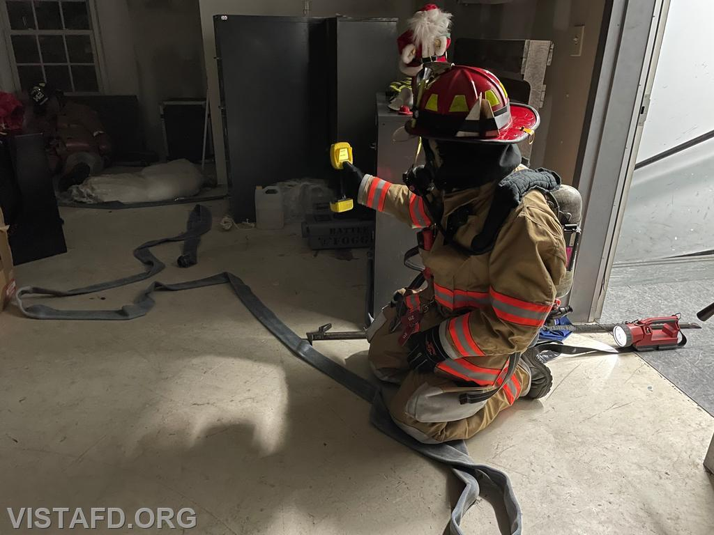 """Vista Firefighters conducting """"search & rescue"""" operations"""