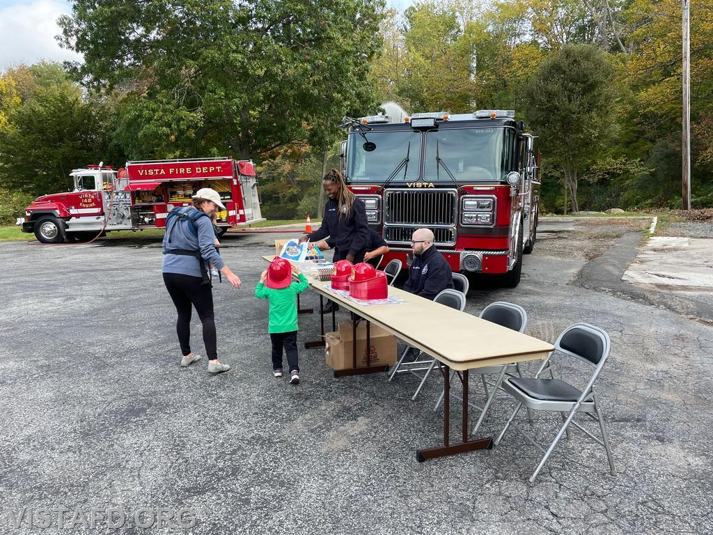 Members of the community enjoying the 2021 Vista Fire Department Open House