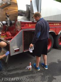 FF Will Pope & Probationary FF Marc Baiocco clean Tanker 4