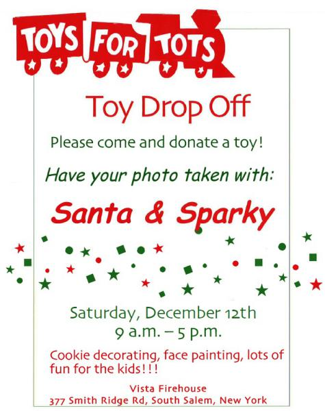 Toys For Tots Pdf : Annual quot toys for tots toy drive is tomorrow vista fire