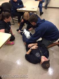Capt. Judy Saslow goes over how to handle a hip fracture on an EMS call