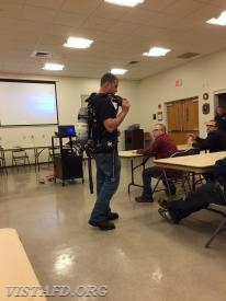Firefighter Sean Kelly reviews the new SCBA's for Engine 141