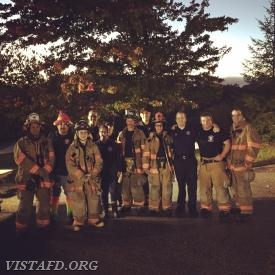 "The Vista Fire Department participating in the 3rd Annual ""Trunk or Treat"""
