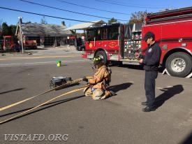 Vista Probationary Firefighters participate in the TOAC course during Firefighter Fundamentals class