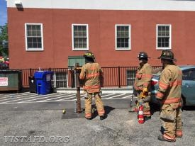 Vista Firefighters practicing saw operations